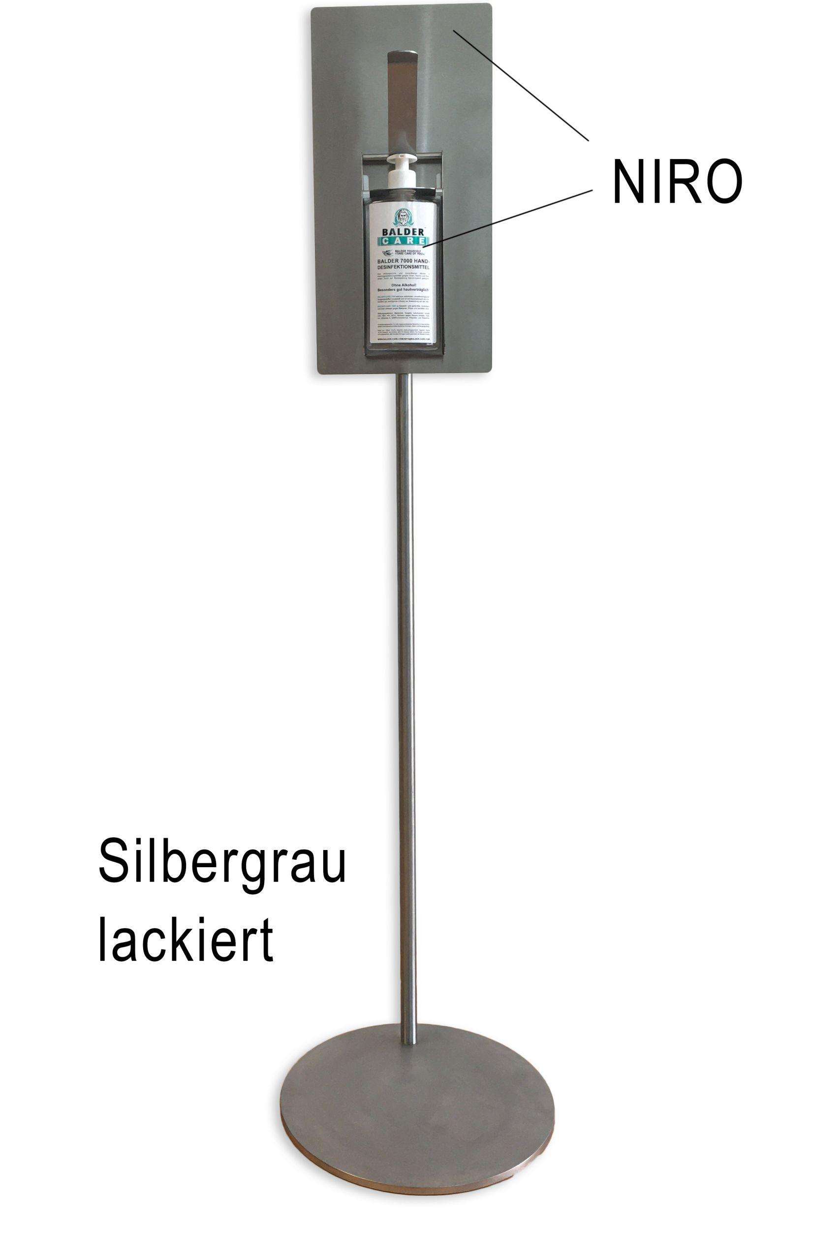 Desinfektionsspender Staender Slibergrau Balder Care